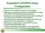 expanded canopus array configuration