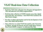 vsat real time data collection