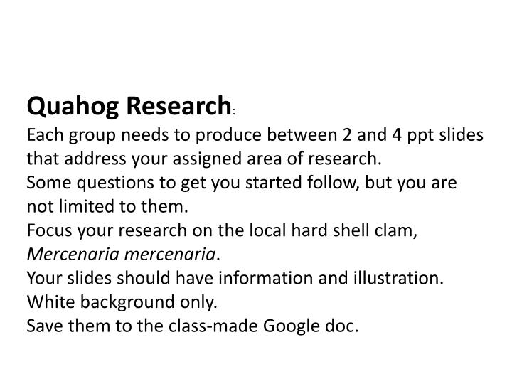Quahog Research