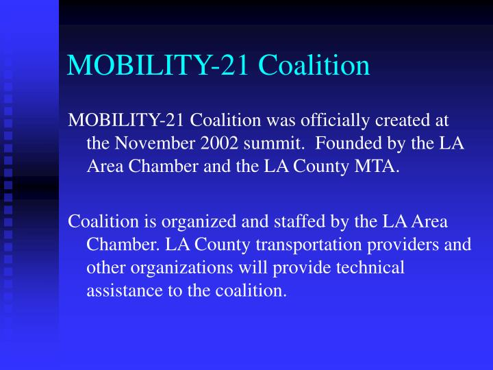 Mobility 21 coalition