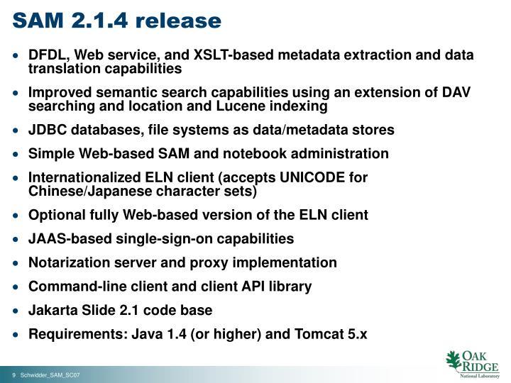SAM 2.1.4 release