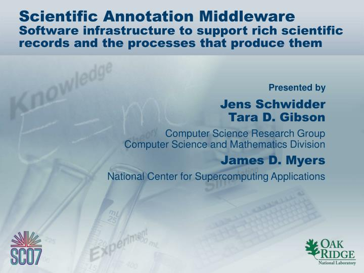 Scientific Annotation Middleware