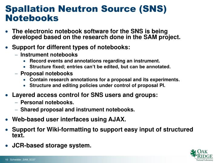 Spallation Neutron Source (SNS) Notebooks
