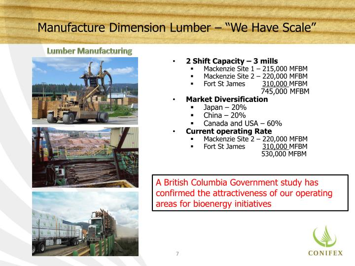 "Manufacture Dimension Lumber – ""We Have Scale"""