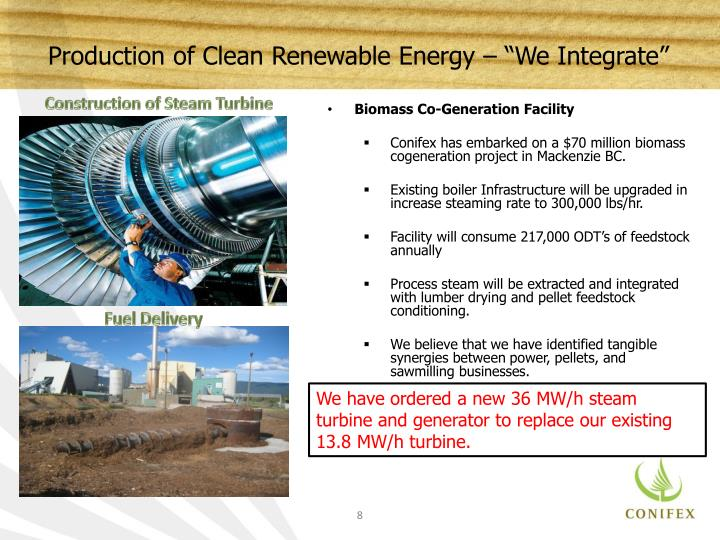 "Production of Clean Renewable Energy – ""We Integrate"""