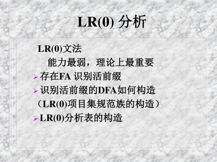 LR(0)
