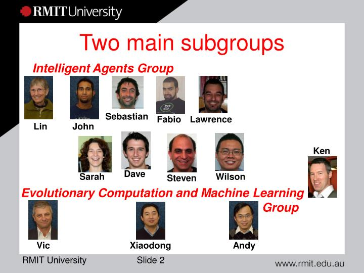 Two main subgroups