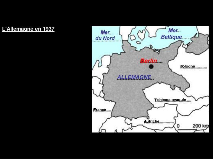 L'Allemagne en 1937