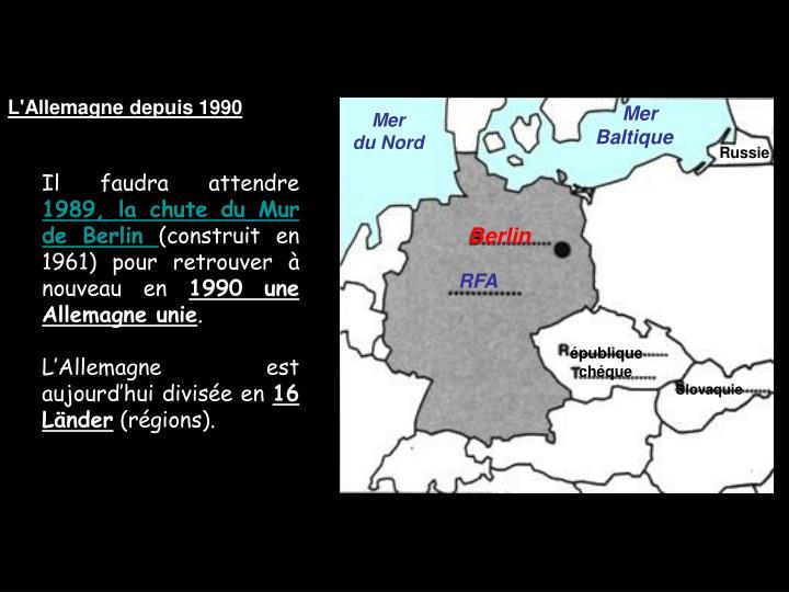 L'Allemagne depuis 1990