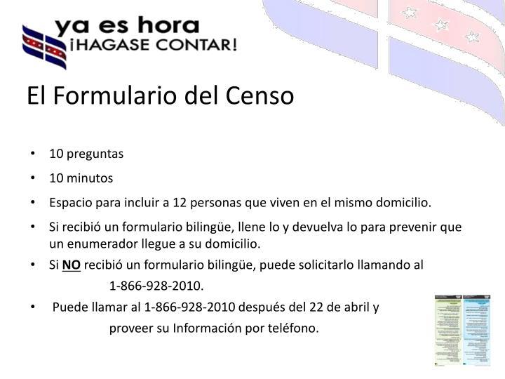El Formulario del Censo