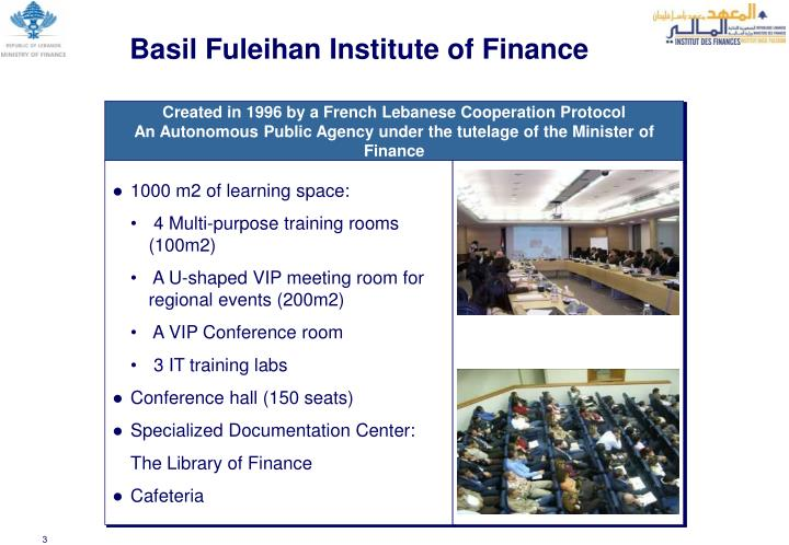 Basil Fuleihan Institute of Finance