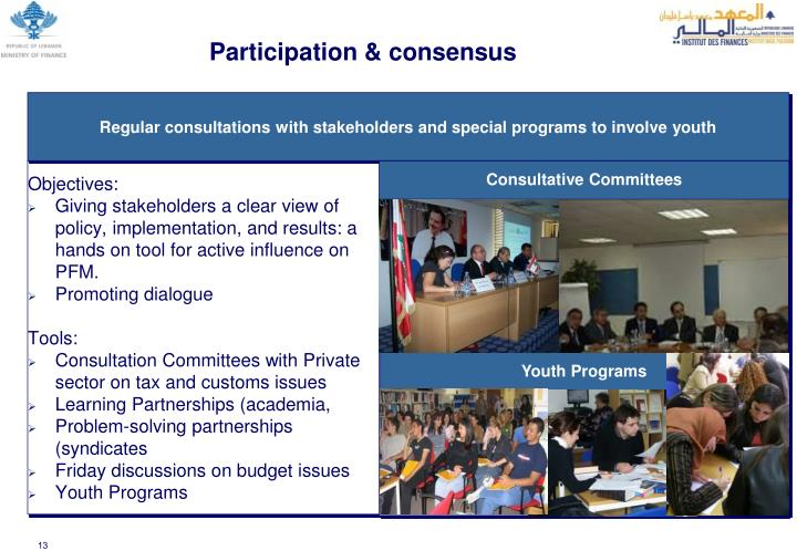 Participation & consensus