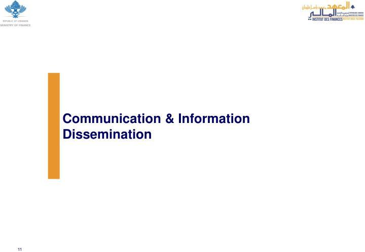 Communication & Information Dissemination