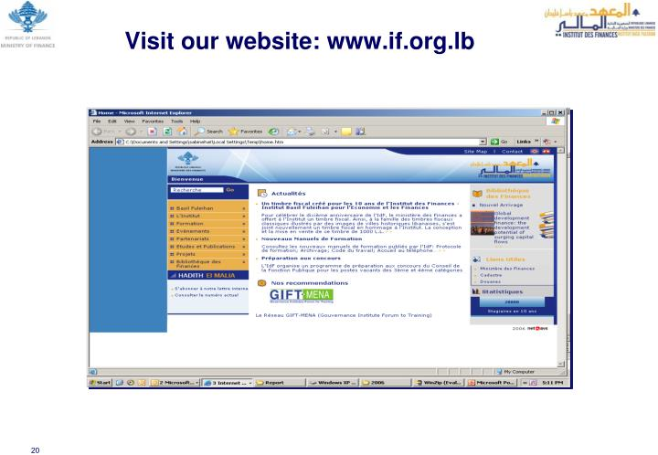 Visit our website: www.if.org.lb