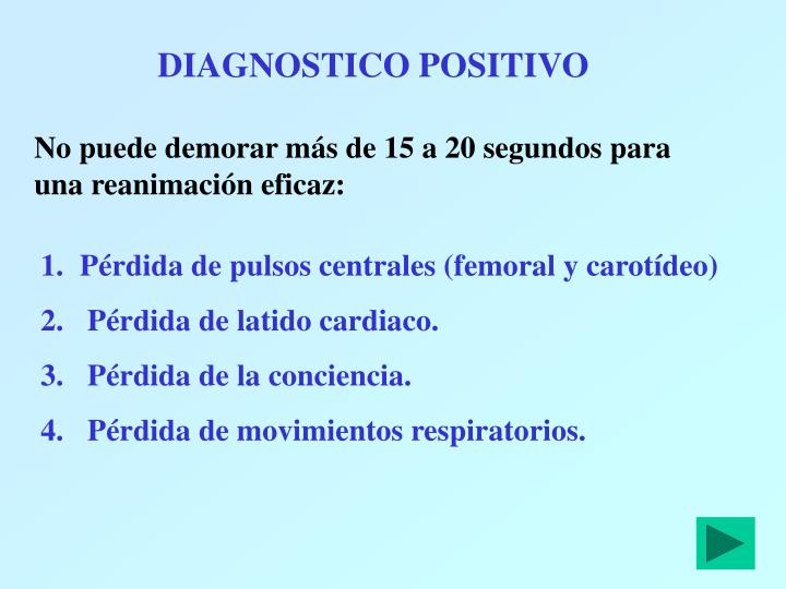 DIAGNOSTICO POSITIVO