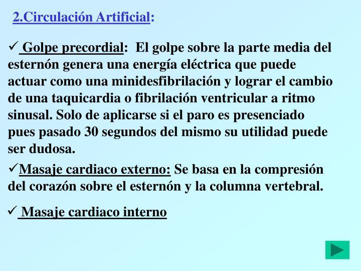 2.Circulación Artificial