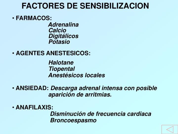 FACTORES DE SENSIBILIZACION