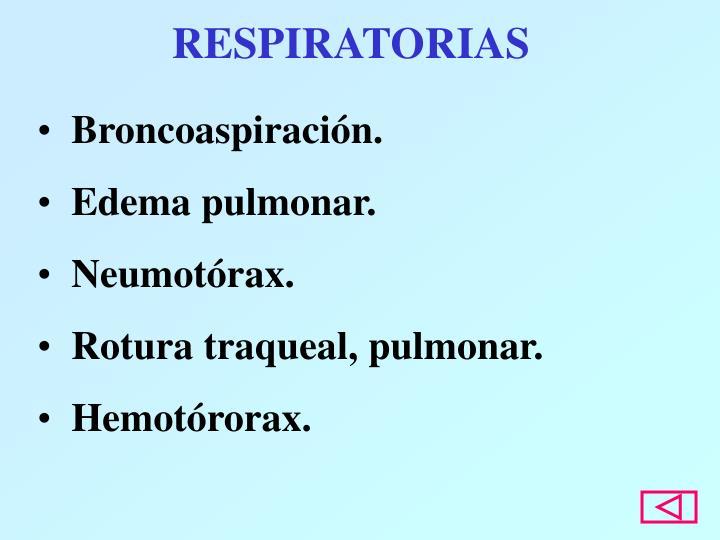 RESPIRATORIAS