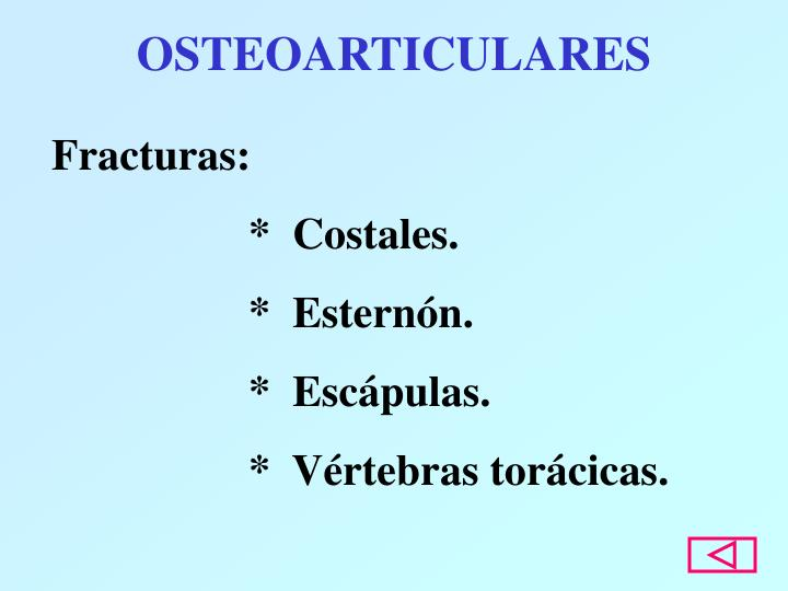 OSTEOARTICULARES
