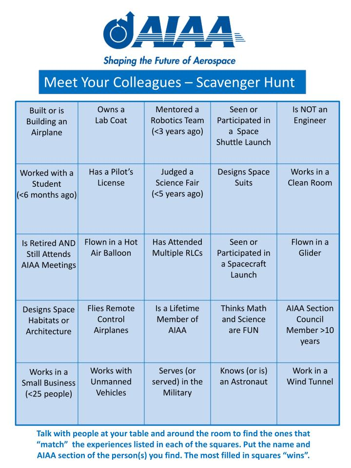 Meet Your Colleagues – Scavenger Hunt