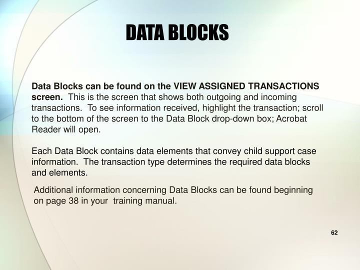 DATA BLOCKS