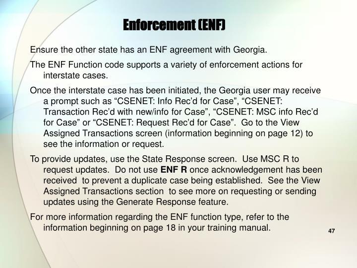 Enforcement (ENF)
