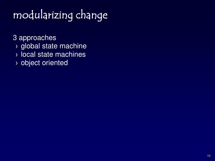 modularizing change
