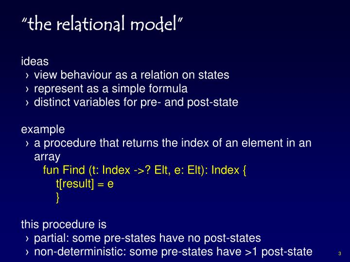 """""""the relational model"""""""