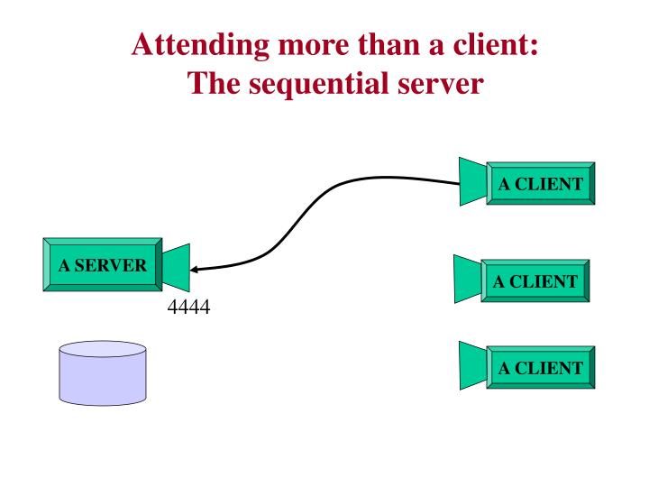 Attending more than a client: The sequential server