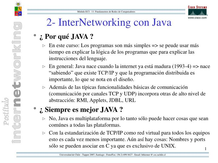 2 internetworking con java