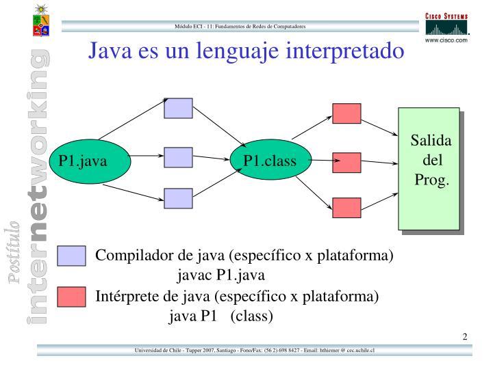 Java es un lenguaje interpretado