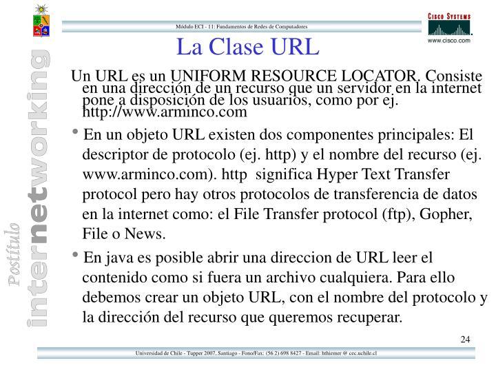 La Clase URL