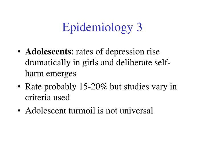 Epidemiology 3