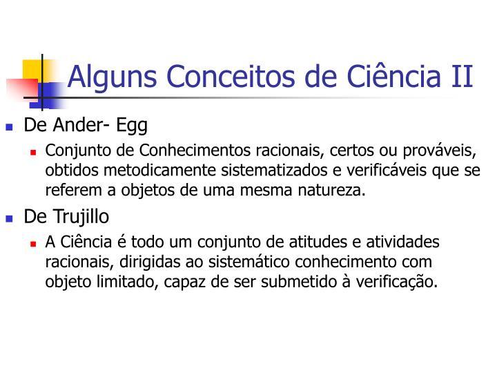 Alguns Conceitos de Ciência II
