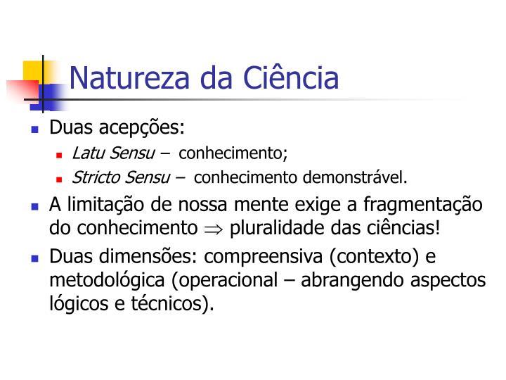 Natureza da Ciência