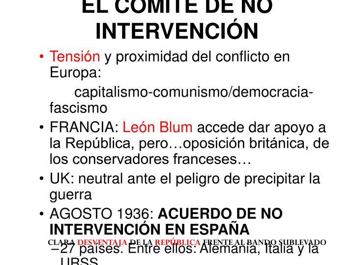 EL COMITÉ DE NO INTERVENCIÓN