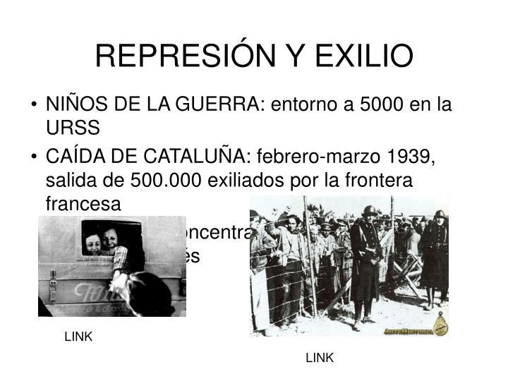REPRESIÓN Y EXILIO