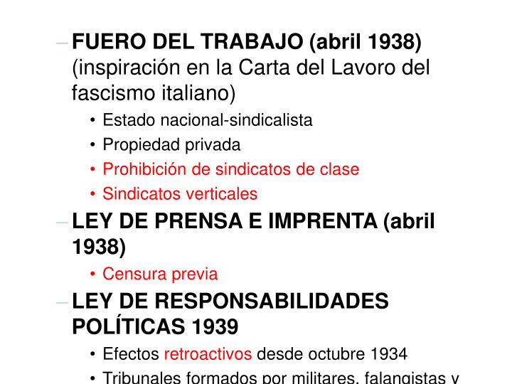 FUERO DEL TRABAJO (abril 1938)