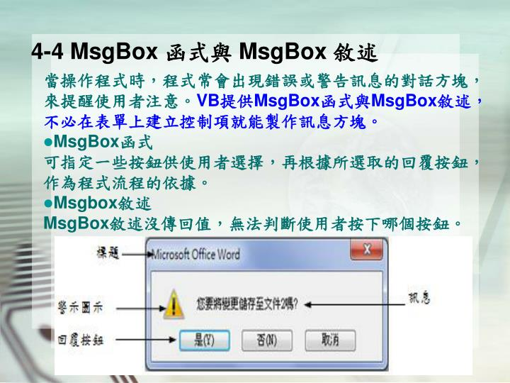4-4 MsgBox