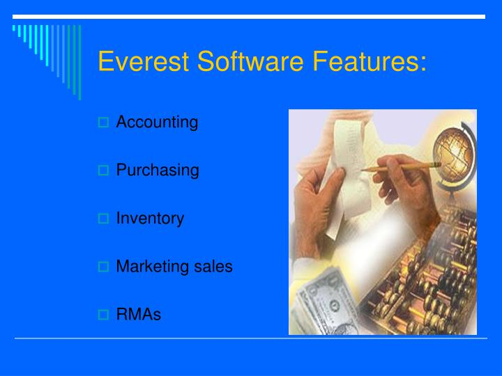Everest Software Features: