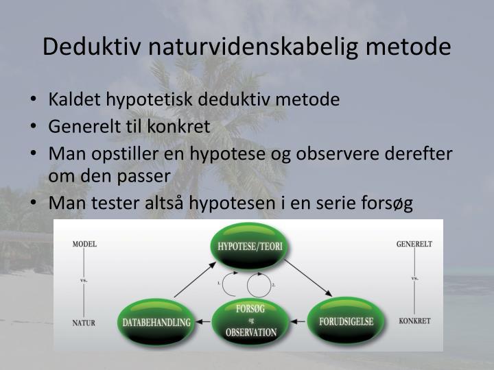 Deduktiv naturvidenskabelig metode