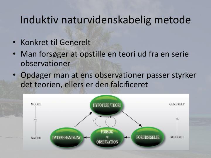Induktiv naturvidenskabelig metode