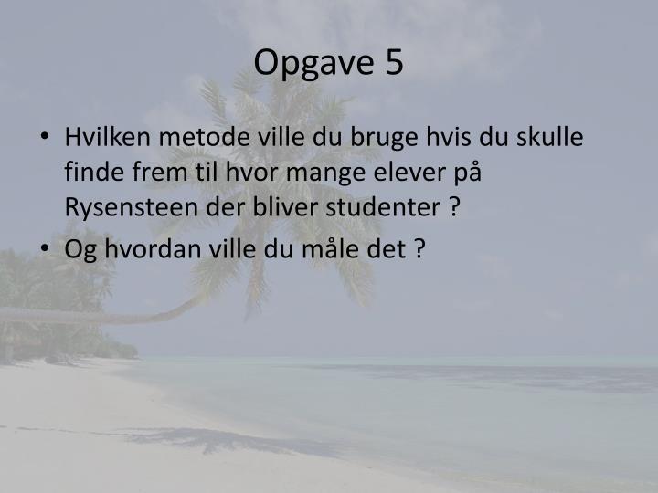 Opgave 5