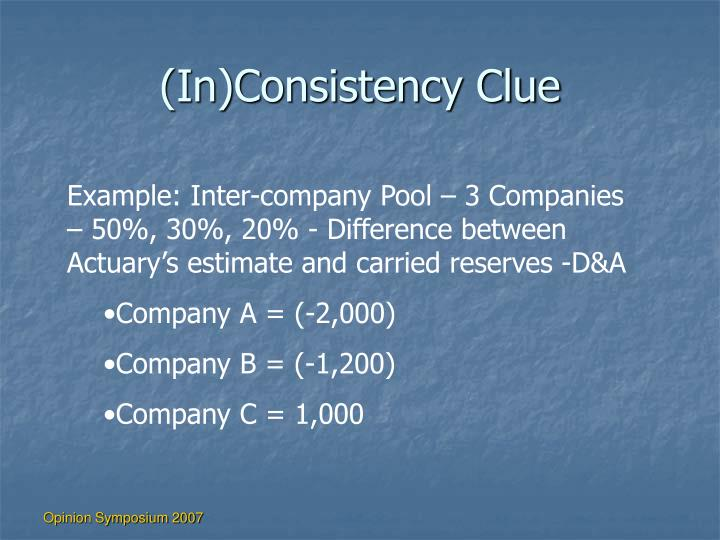 (In)Consistency Clue
