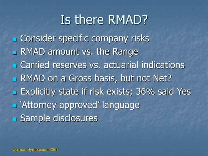 Is there RMAD?
