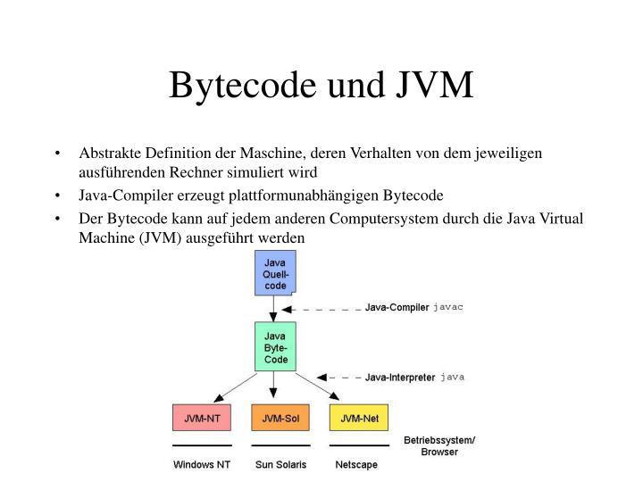 Bytecode und JVM