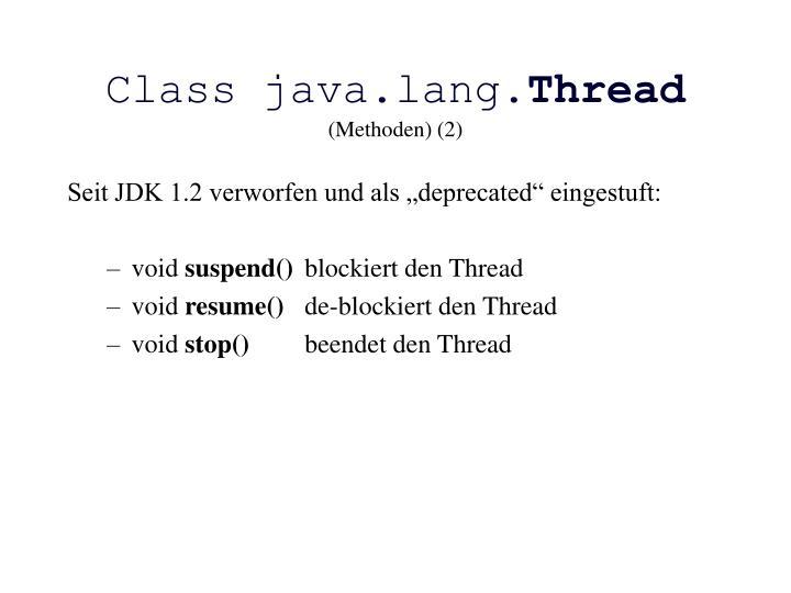 Class java.lang.
