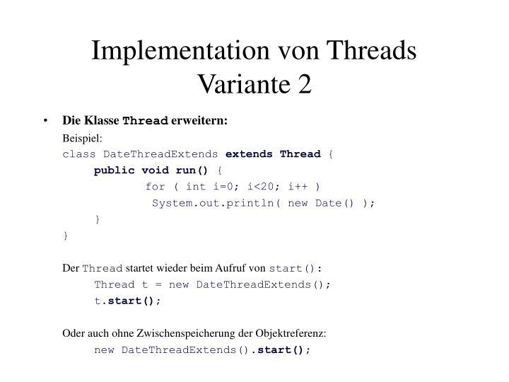 Implementation von Threads