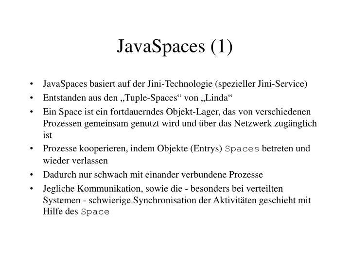 JavaSpaces (1)