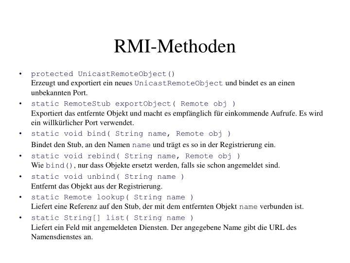 RMI-Methoden